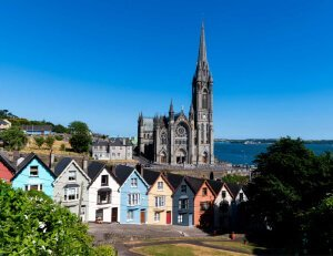 Cobh - a seaport town in Ireland